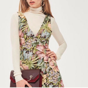 TopShop Floral Jacquard Dress NWOT